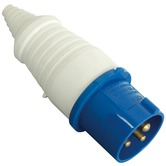 Blue CEE 16A line plug 3 pole