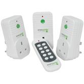 3 x radio controlled UK mains socket adaptors
