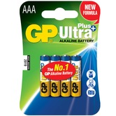 Ultra+ Alkaline batteries, AAA, 1.5V, packed 4/blister