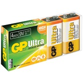 PP3 4pk Ultra alkaline batteries in easy store UPVC Box