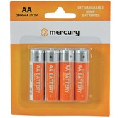 AA 2800mA NiMH battery - pack of 4