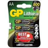 Pack of 4 AA size 1.5 volt GP Battery Lithium batteries