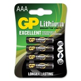 Pack of 4 AAA size 1.5 volt GP Battery Lithium batteries