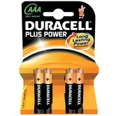 AAA Duracell Plus power batteries - 4 Pack