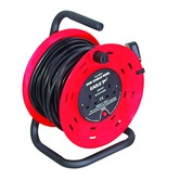 Red/Black 2 Gang 30 m Extension Reeler with Stand and Carry Handle