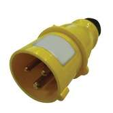 110V Yellow 16A 3 Contact High Current In-line Plug