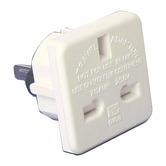 White 7.5 A Travel Adaptor (UK to Australian/US)