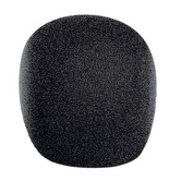 Black 22 mm Internal Diameter Foam Microphone Windshield