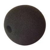 Black 35mm ball, 7 mm Internal Diameter Foam Microphone Windshield