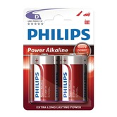 D size Philips Power Alkaline Batteries - Pack of 2