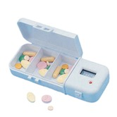 Automatic pill reminder with 3 storage compartments