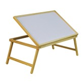 Folding Wooden Bed Tray with adjustable table top