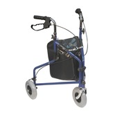 Blue Tri Walker walking aid with carry bag