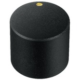 20mm rotary knob matt black with golden marking