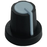 Grey/black  rotary 11mm knob