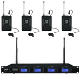 IMG Stageline TXS-646/38 Quad lapel radio mic system - channel 38