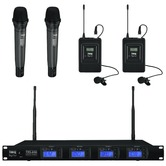 IMG Stageline TXS-646/38 quad handheld/lavalier radio mic system - ch 38