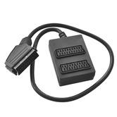 SCART plug to 2 SCART sockets