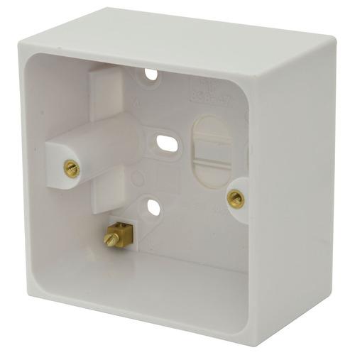 47mm Single surface back box
