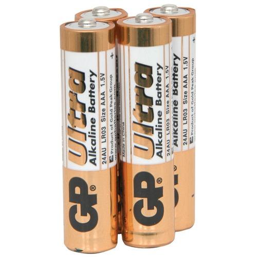 AAA alkaline batteries, GP Ultra - pack of 4