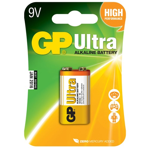 PP3 alkaline battery - GP Ultra