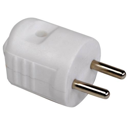 Eagle 2 Pin White Rewireable Schuko 2P Plug
