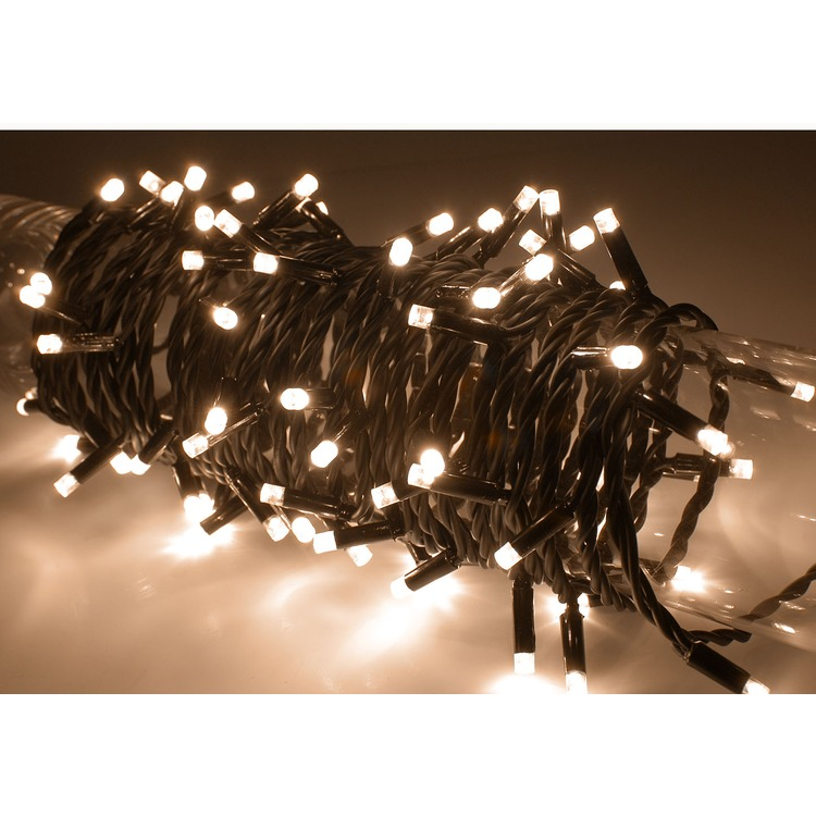 Warm White 80 LED Battery Powered String Lights with Auto Timer Connevans Electronics
