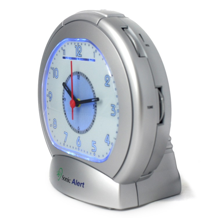 Sonic Boom Sba475ss Analogue Alarm Clock With Bed Shaker