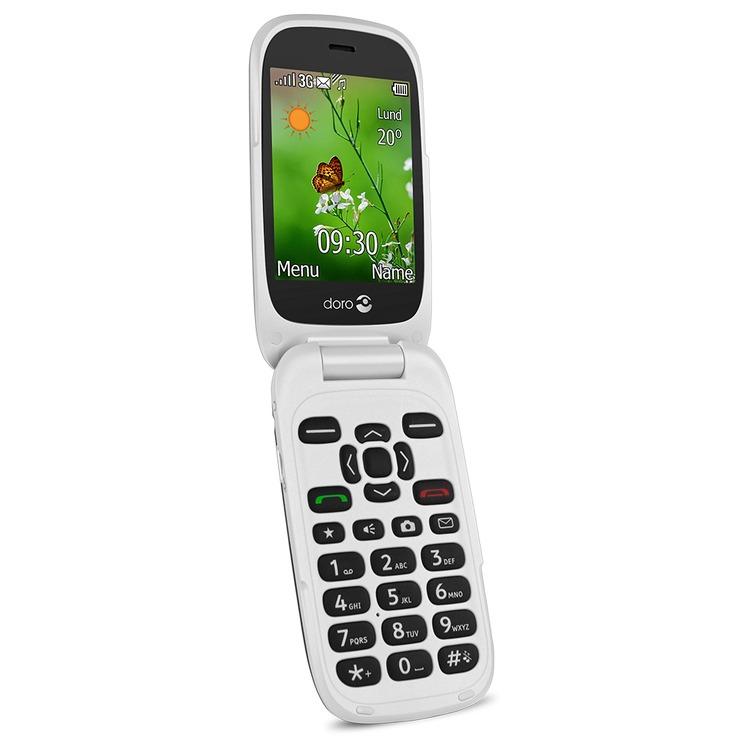 doro 6530 flip mobile phone with doro connect care. Black Bedroom Furniture Sets. Home Design Ideas