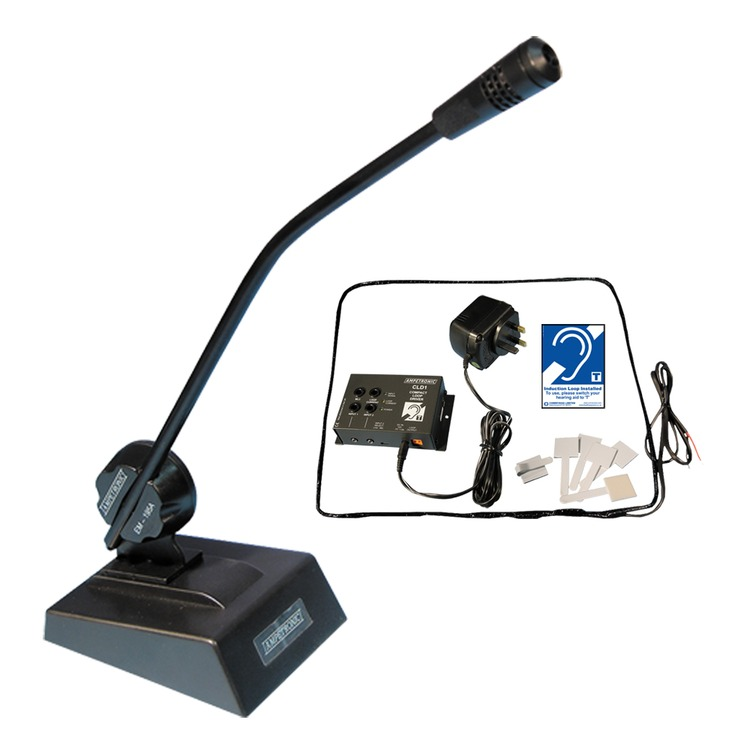 CLD1 loop driver with free standing desktop microphone & counter