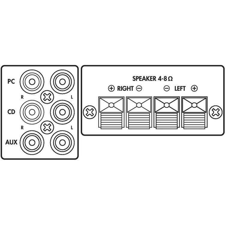 compact universal stereo amplifier 2 x 25 watt
