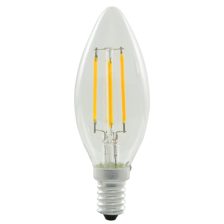Energizer 4w 40w Filament Led Candle Ses: LED Candle Filament Bulb, E14 (SES) 230v 4W (40W Equiv