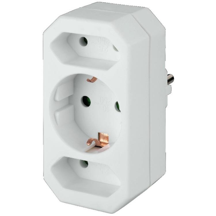 3-way EU socket splitter | Plug Adaptors