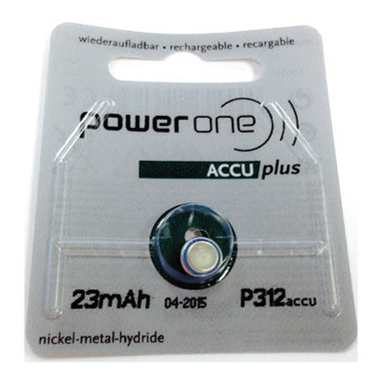 Rechargeable Powerone P312 ACCU plus battery | Deaf Equipment