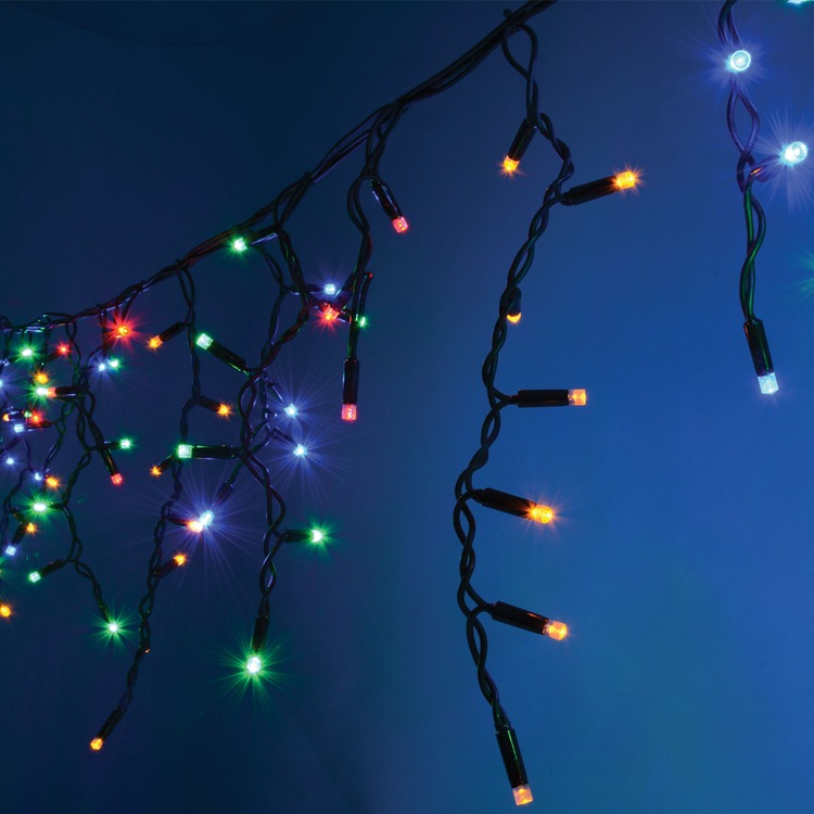 String Lights Fire Hazard : 300 Multicolour Heavy Duty Outdoor LED Icicle String Lights Connevans