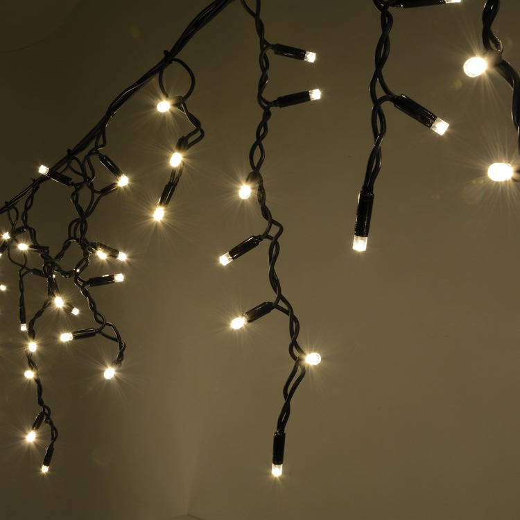 Qtx Heavy Duty Led String Lights : 300 Warm White Heavy Duty Outdoor Icicle LED String Lights Deaf Equipment
