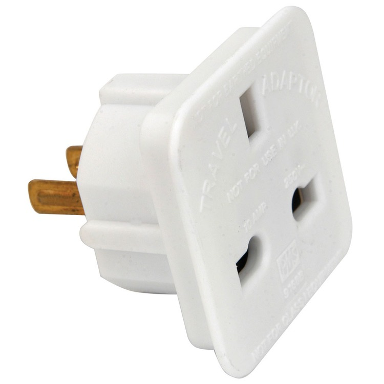 Uk 13 Amp Socket To 2 Pin American Plug Travel Adaptor