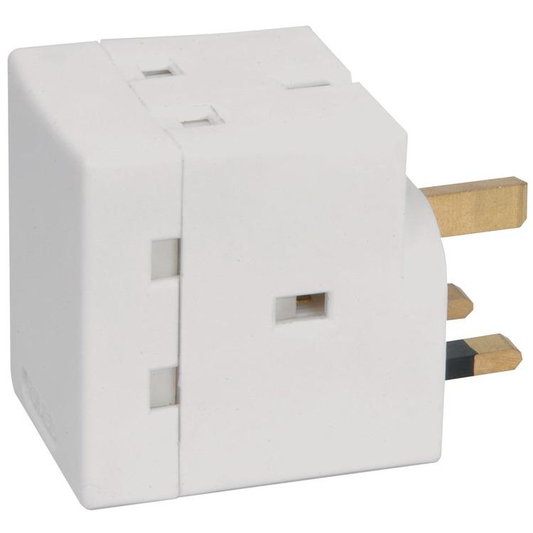 3-way fused UK plug adaptor   Connevans