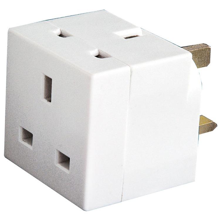 2-way UK mains plug adaptor (13A) | Connevans