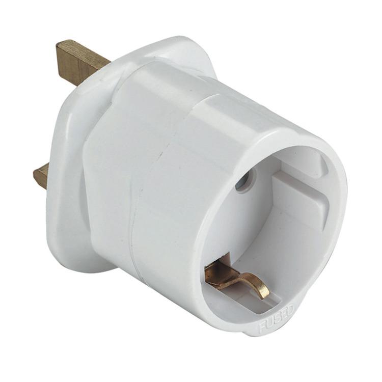 US EU To UK 3 Pin Tourist Travel Plug Power Adapter 13A Fused Mains Converter