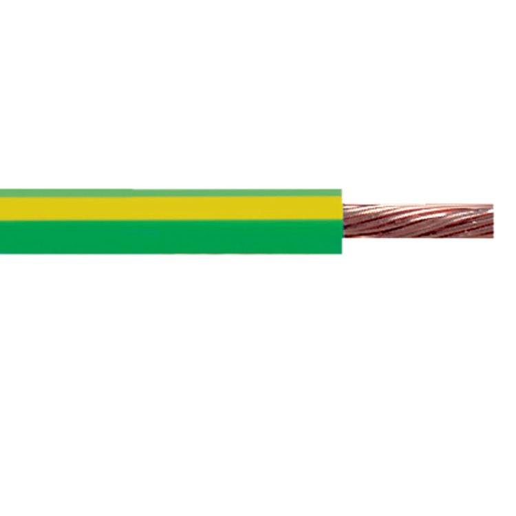 10m Coil Of Single Core Earth 10mm Green Yellow 6491x Wire