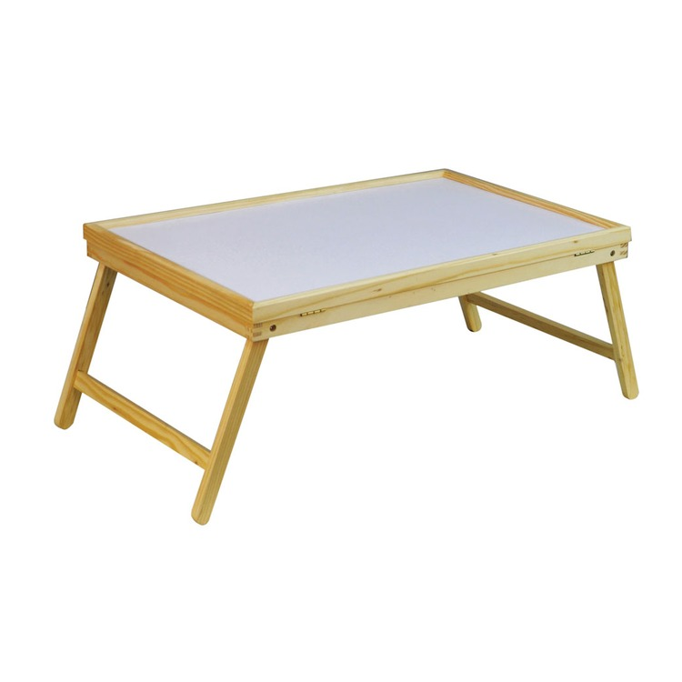 Folding Wooden Bed Tray With Adjustable Table Top Connevans