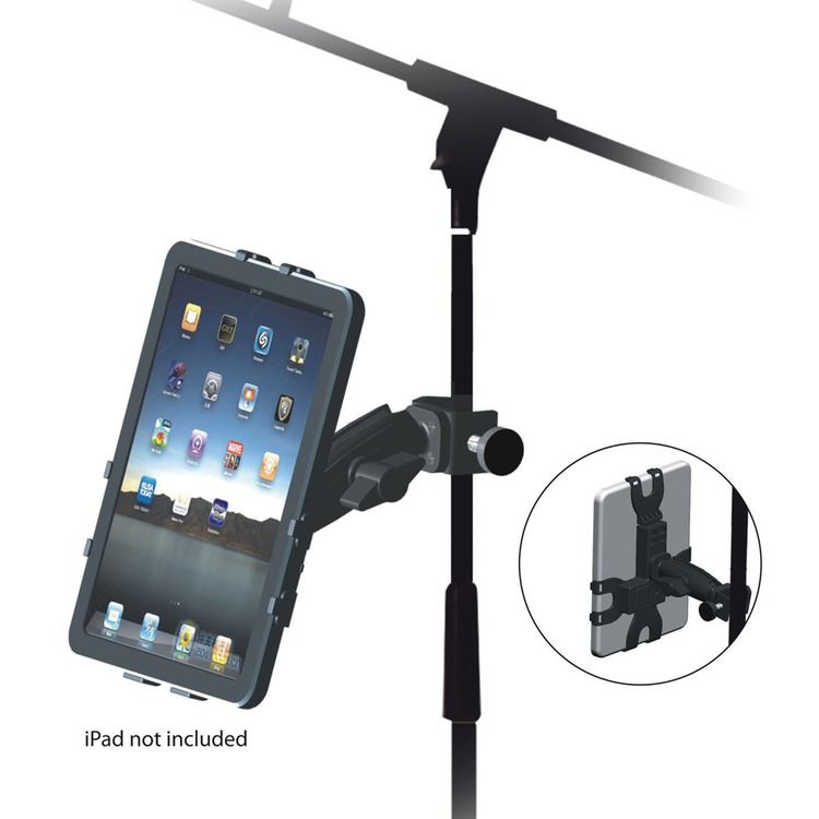 microphone stand mounting multi angle bracket for ipad ipad 2 and ipad 3 connevans. Black Bedroom Furniture Sets. Home Design Ideas