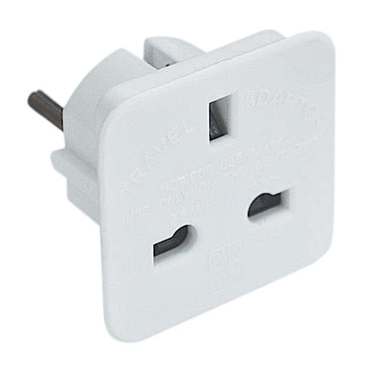 Uk 3 Pin Socket To 2 Pin European Plug 7 5a White Plug