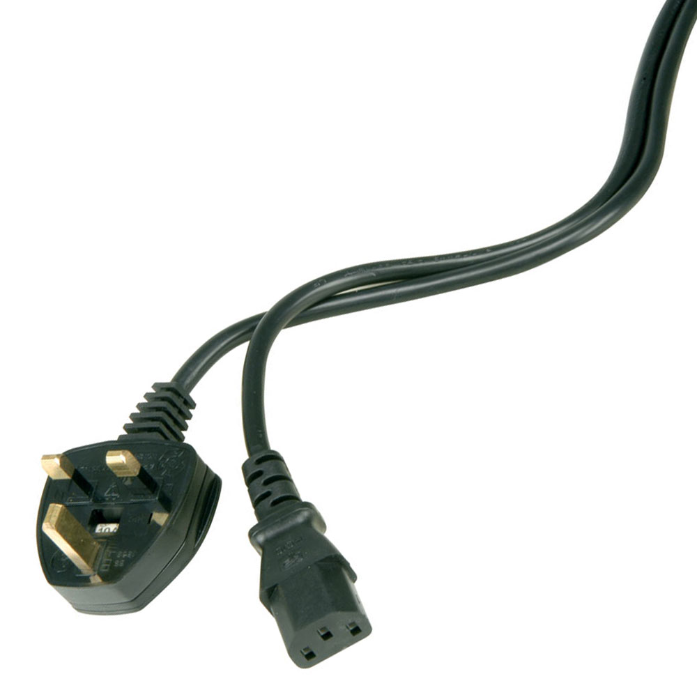 Iec To Uk Plug Mains Leads Connevans Direct Wiring 10m Black Lead With 10a Fuse