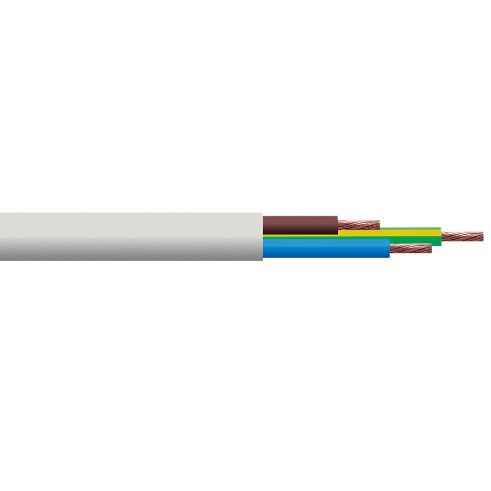 0.5mm� Round Mains Cable 2182Y 2-Core 3A White 5m